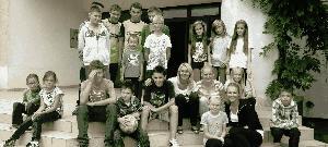 Kinder des integrativen Kindergartens und des Kinderdorfs in Rajsko. Er wird von der Partnerschaftskation unterstützt.