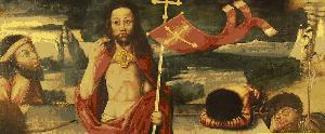 Darstellung des Auferstehenden am Altar der Moritzkirche in Halle (Saale)